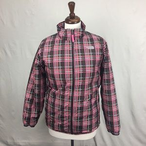 Girls Plaid The North Face Puffy Jacket
